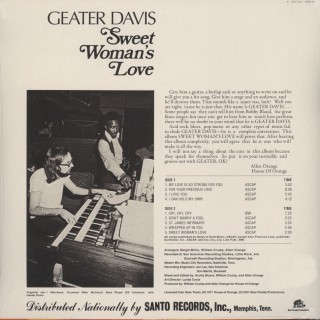 Geater Davis - Sweet Woman's Love