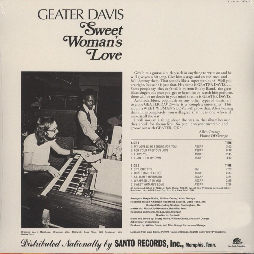 Geater Davis - Sweet Woman's Love