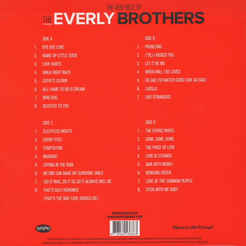 Everly Brothers - The Very Best Of The Everly Brothers