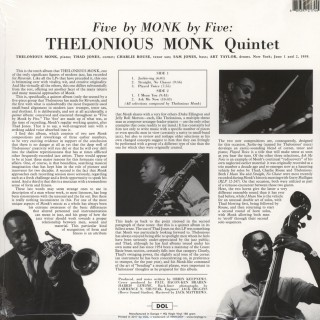 Thelonious Monk Quartet - 5 By Monk By 5