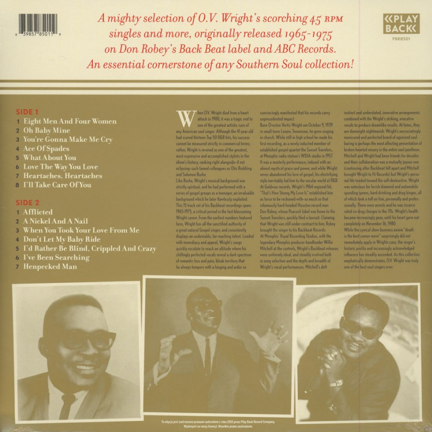 O.V. Wright - Treasured Moments (The Complete Back Beat / ABC Singles)