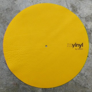 Yellow Leather Turntable Slipmat