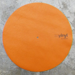 Orange Leather Turntable Slipmat